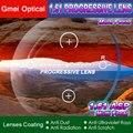 1.61 Progressive Lentes de Prescrição Espetáculo Óptico Personalizado 2 pcs Padrão com Proteção UV & Revestimento Anti-Reflexo