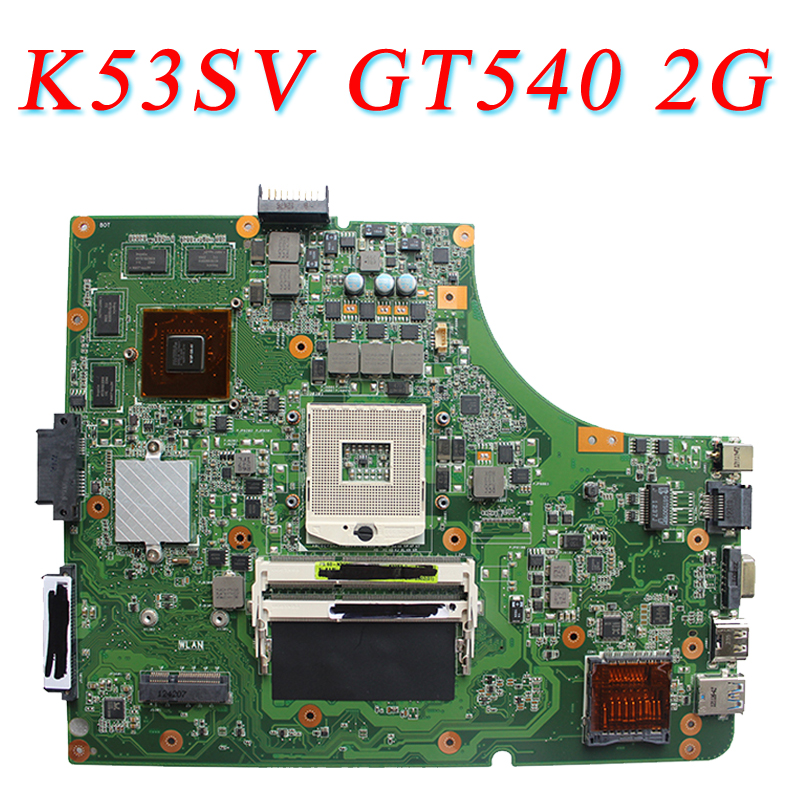 for ASUS K53SV motherboard K53SV k53S X53SV A53S Mainboard GT540 2G N12P-GS-A1 REV 3.1 8 memory 100% tested before shipping