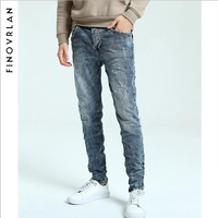 Famous Dsel Brand Fashion Designer Jeans Men Straight Dark Blue Color Printed Mens Jeans Ripped Jeans