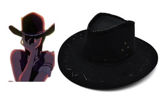 Black Nico Robin One Piece Hats