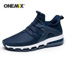75e24de70 ONEMIX الرجال احذية الجري الأزرق أحذية مشي وسادة هوائية في الهواء الطلق  أحذية رياضية ل في