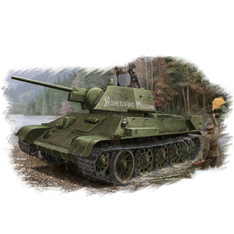 Soviet T-34/76 (1943 type 112 factory production) <font><b>tank</b></font> 84808 Chariot model <font><b>1/48</b></font> scale image
