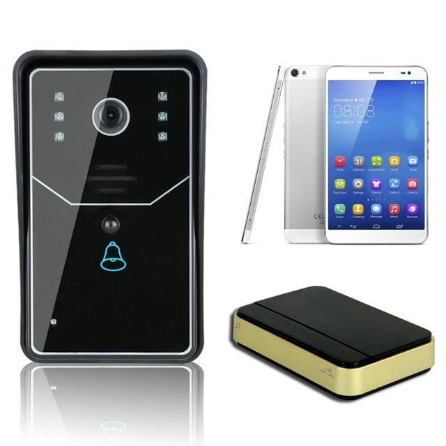 Free shipping Access Control Touch Keypad WiFi DoorBell Wireless Video Door Phone Home Intercom System IR RFID Camera WIFI001