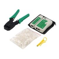 Ethernet Network Cable Tester Tools Kits RJ45 Crimping Crimper Stripper Punch Down RJ11 Cat5 Cat6 Wire