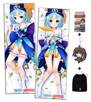 Hobby Expreso Kawaii Pelo Azul Anime Japonés Dakimakura Abraza el Cuerpo de Almohada Cubre H3353A
