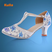 KULLA new arrival hot sale heel ballroom tango latin dance shoes for women dancing salsa shoes high-heeled adult soft outsole