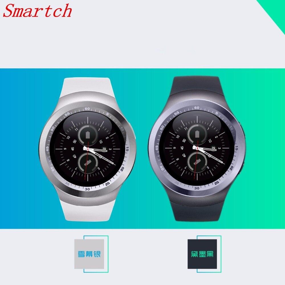 696 heißer Verkauf Y1 Bluetooth Smart Uhr Mit Sim Tf Uhr Stunden Mtk6261 Smartwatch Telefon Für Runde Kreis in Lager