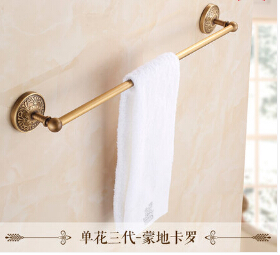 High Quality Antique brass wall mounted 24 inch Single Towel Bar Elegant Towel Holder Bathroom Towel Rack,Bathroom Towel Rail high quality towel racks brass 50 60cm antique towel rail copper wall mounted towel bar bathroom f503