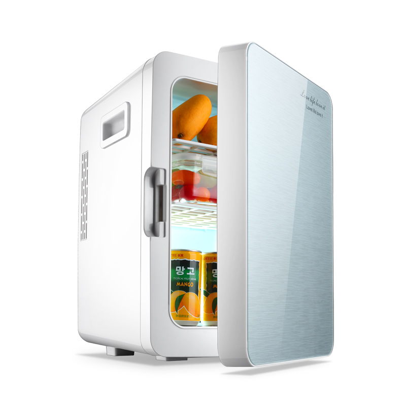 2 In 1 Mini Refrigerator 20L Both Home Car Mini Fridge 12V / 220V Freezer Mini Frigo Nevera Icebox  Buzdolab Frigobar