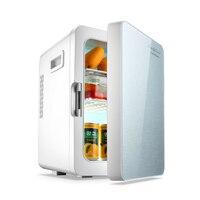 2 in 1 미니 냉장고 20l 가정용 미니 냉장고 12 v/220 v 냉동고 미니 frigo nevera icebox buzdolab frigobar
