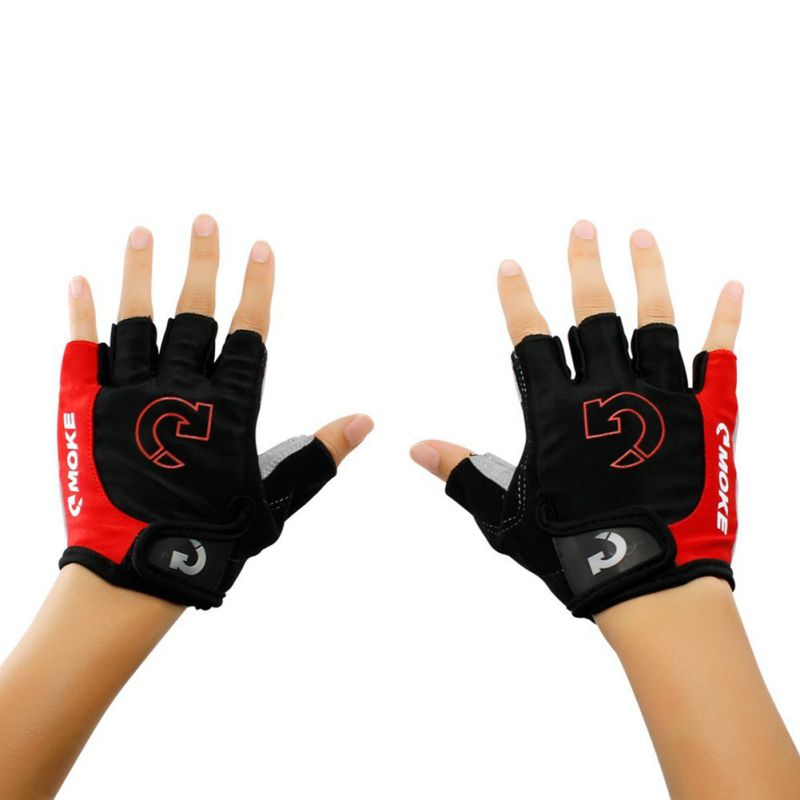 Men Sport Half Finger Anti Slip Pad Cycling Gloves Bike MTB Bike The Road Gloves Bicycle 3 Colors batfox women cycling gloves female fitness sport gloves half finger mtb bike glove road bike bicycle gloves bicycle accessories