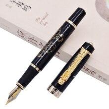 Jinhao винтажная авторучка Средний NIB, потомки дракона, черный цвет письма Бизнес Офис Школьные принадлежности
