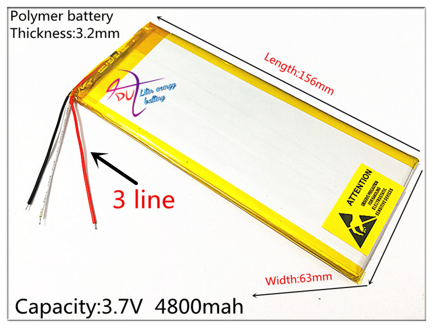 3 line 3263156 The tablet battery Rechargeable batteries 3.7V4800MAH 3263156 Polymer lithium ion / Li-ion battery for tablet pc 3 thread 8448104 3 7v 6700mah polymer lithium ion battery rechargeable batteries li ion battery for tablet pc