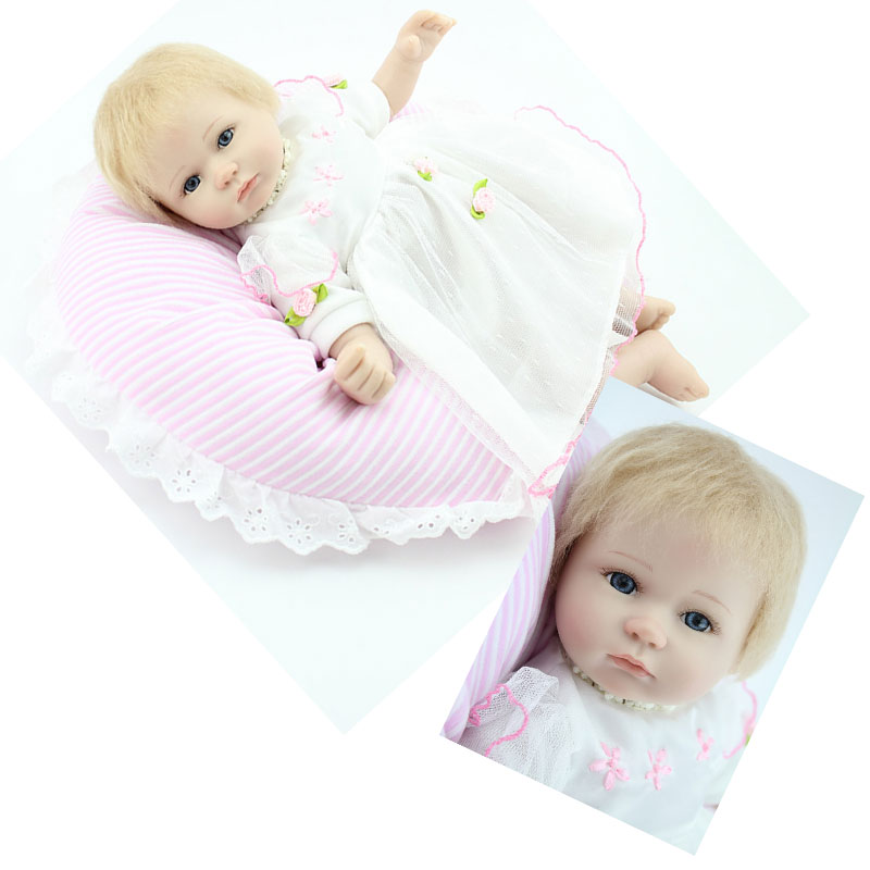 42CM Kawaii Silicone Bebe Reborn Baby Doll Kid Realistic Playmate Gift for Girls Baby Alive Soft Toys for Bouquets Juguetes Gift 57cm full silicone shower doll reborn baby boy doll kids playmate gift handmade lifelike bebe juguetes babies toys for bouquets