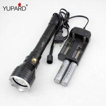 Yupard подводный diver фонарик факел xm-l2 t6 белый желтый свет водонепроницаемый дайвинг 100 м + 18650 аккумуляторная батарея + зарядное устройство