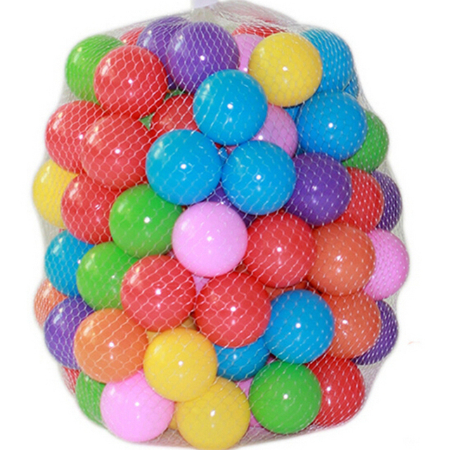 100 pcs/lot Eco-Friendly Colorful Ball Soft Plastic Ocean Ball Funny Baby Kid Swim Pit Toy Water Pool Ocean Wave Ball Dia 5.5cm  4