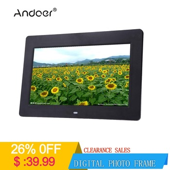 "Andoer  Digital Photo Frame 10""  HD TFT-LCD 1024 * 600 with Clock MP3 MP4  Movie Player function with Remote Desktop"