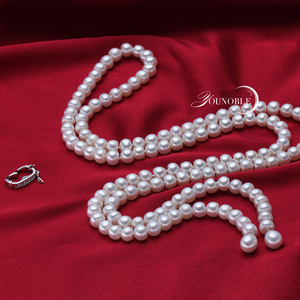 Image 3 - 900mm vintage real long pearl necklace women,girls jewelry 925 silver natural bridal freshwater white pearl necklaces mother