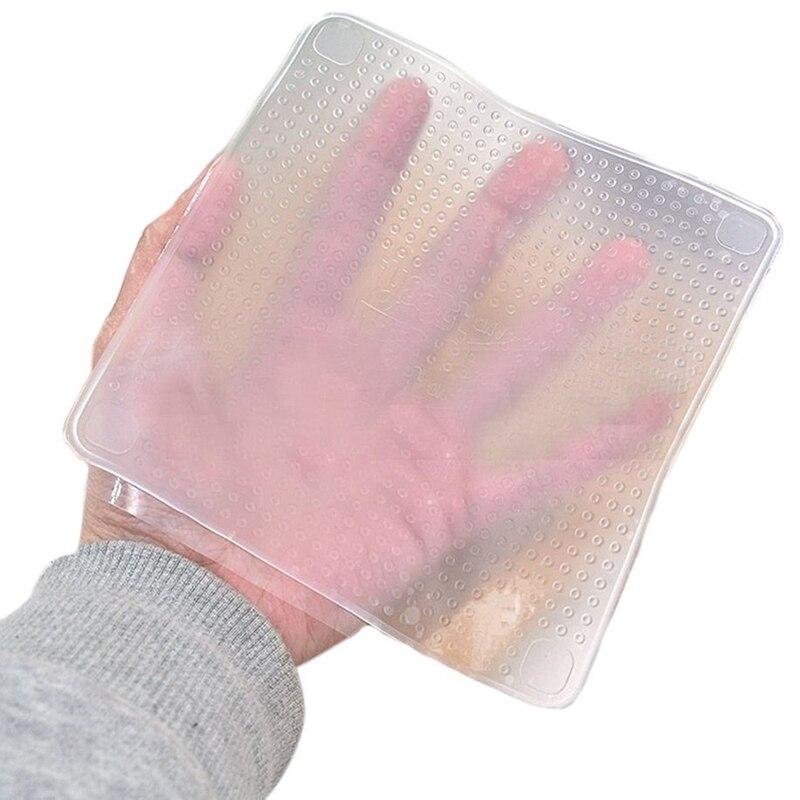 ¡Novedad! herramientas de cocina Saran multifuncionales para mantenimiento fresco de alimentos de 4 uds, envolturas reutilizables de silicona para alimentos, tapa de sellado al vacío, tapa elástica