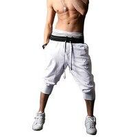 Мужские капри-шаровары мешковатые шорты бермуды, футболок для смешанных боевых искусств (mma) Хлопковые смеси спортивные шорты для занятий ф...