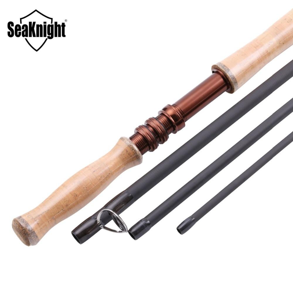 SeaKnight MAXWAY Serie Spey Honor 9/10 #4 Stukken 13FT 3.9 m 40 t Carbon 3A Zachte Houten Handvat FUJI ringen Fly Hengel - 2