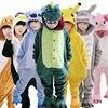 Children Unisex Stitch Tiger Totoro Onesie Kids Girls Boys Warm Soft Cosplay Animal Pajamas Home Sleepwear