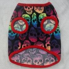 Skull Print Dogs Vest T-shirt