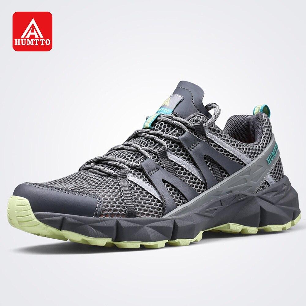 Chaussures de randonnée HUMTTO pour hommes en maille respirante chaussures à lacets légères chaussures de randonnée antidérapantes printemps été baskets d'extérieur