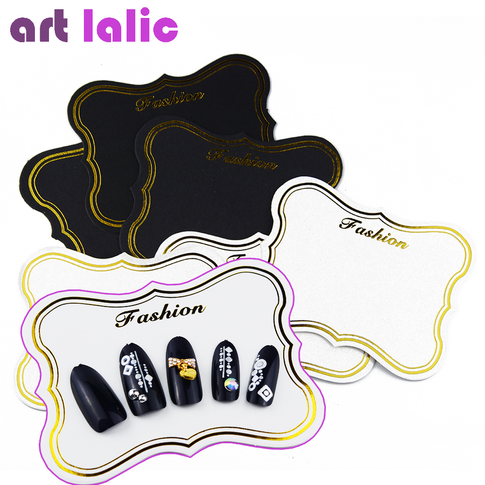 Artlalic 10pcs Nail Art Display Card Japanese Bronzing Photo Frame Decorative Card Nail Tools Retro Luxury Decoration Board