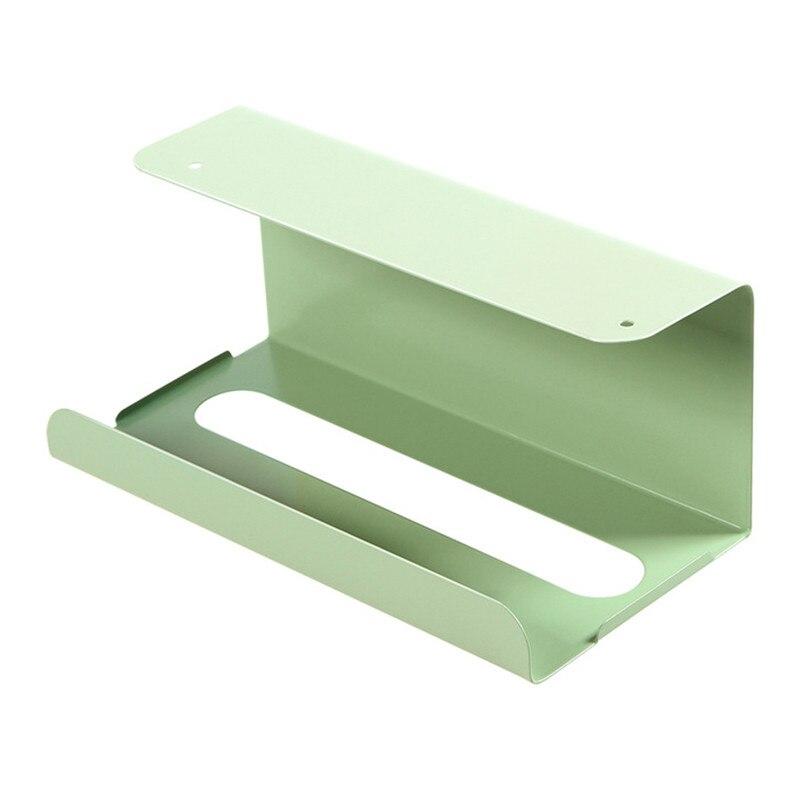 Держатель для туалетной бумаги шкаф висячий Тип подставка для туалетной бумаги коробка для салфеток шкаф Висячие съемные стойки бумажная Полка для полотенец - Цвет: Зеленый