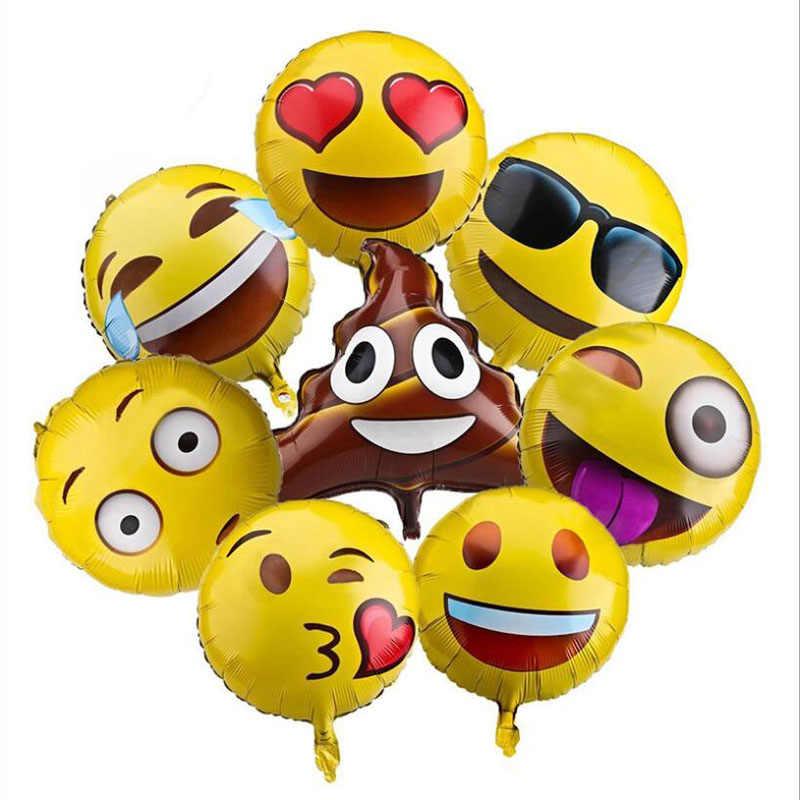 18 дюймов Эмодзи-Смайл лицо гелиевые воздушные шары украшения дня рождения стул фольги воздушный шар Набор детских игрушек
