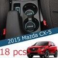 18 unids para NUEVO Mazda CX-5 CX5 2015 2016 Antideslizante slot Puerta interior esteras estera de la taza de almacenamiento