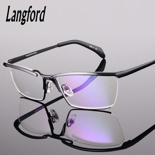 Pure titanium очки рамки мужчины роскошные высококачественные оправы для очков конструкций большие очки кадры оправы рецепту
