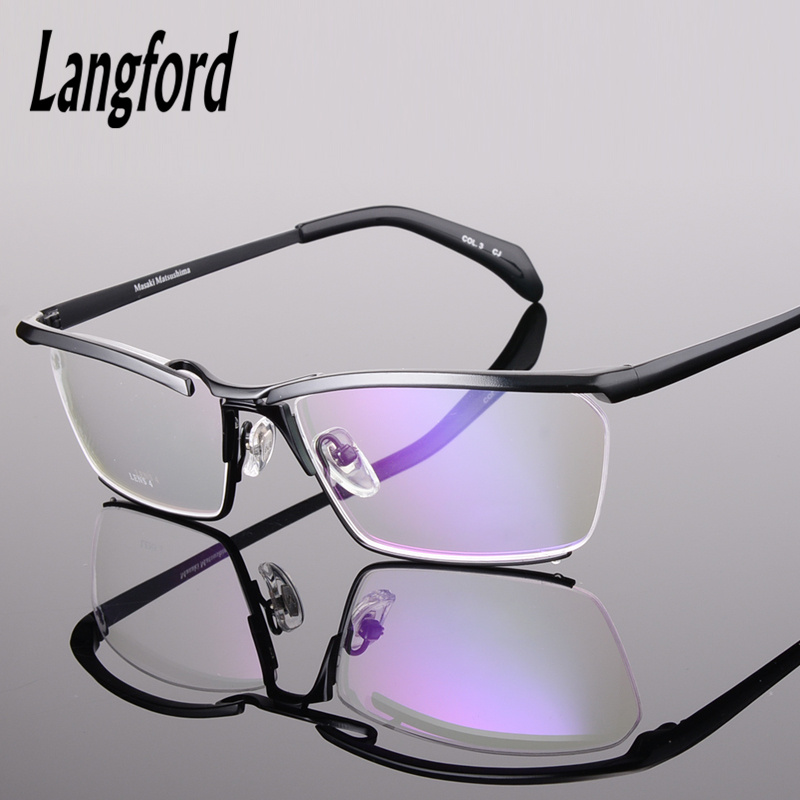 6275e307610 pure titanium glasses frames men luxury upmarket spectacle frames designs  large eyewear frames optical frames prescription-in Eyewear Frames from  Men s ...