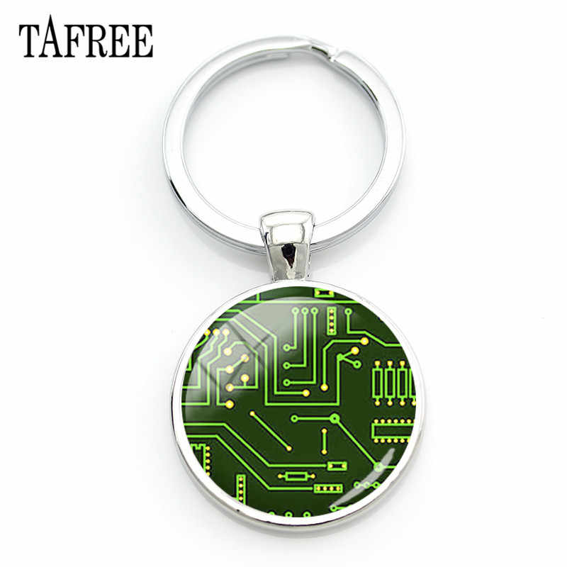 detail feedback questions about tafree computer circuit boarddetail feedback questions about tafree computer circuit board keychain balance integrated circuits images glass dome pendant key ring holder qf23 on