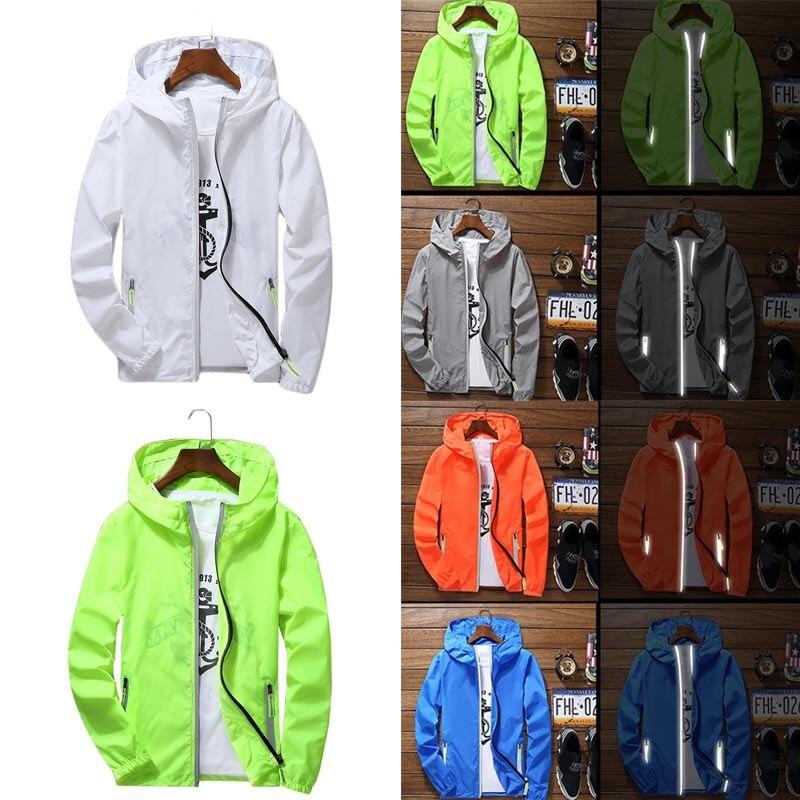 Men Women Waterproof Windbreaker Zipper Jacket Hoodie Light Sports Outwear Coat Tops TY53