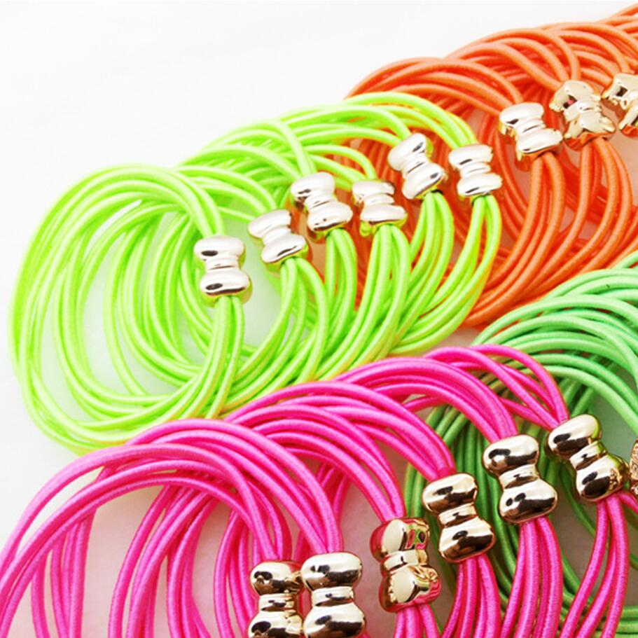 2PCSLOT Mix Colors Hair Scrunchies Hair Tie Hair Accessories Ponytail Rope Headband Hair Accessories