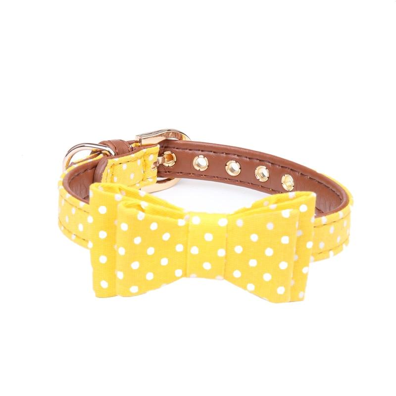 Yellow Bow Collar