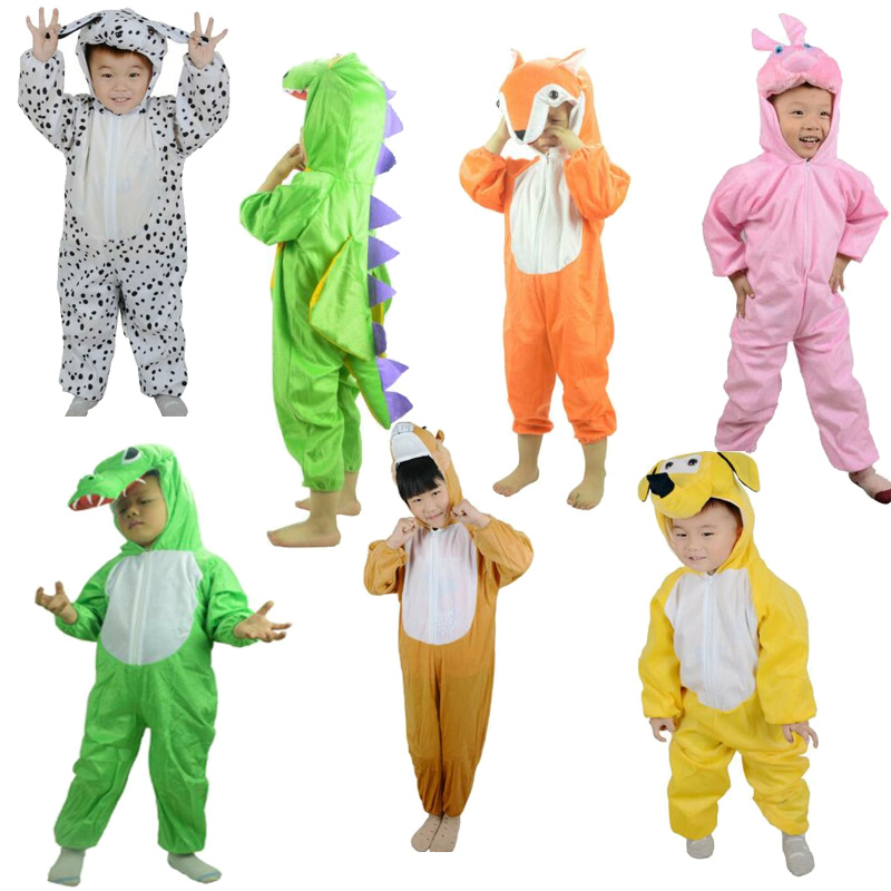Boy Girl Cute Cartoon Animal Dinosaur kids costume elephant bunny onesie School Costume for Kids Children's Day Costumes