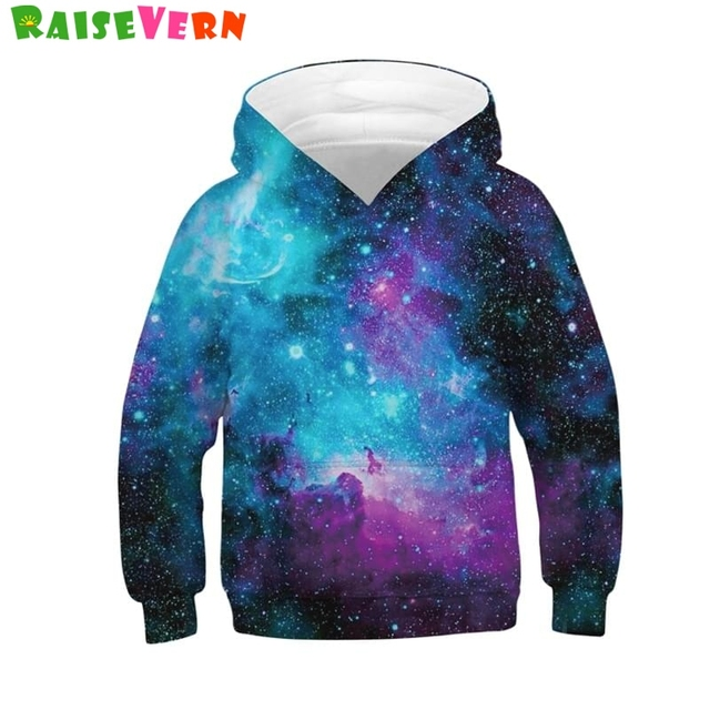65b8db1b Fashion Galaxy Space 3D Print Baby Boys Girls Hooded Sweatshirts Autumn  Outerwear Kids Pullover Hoodies Winter