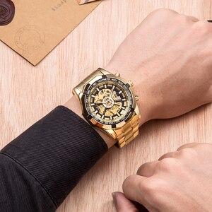 Image 4 - FORSINING Men Fashion Skeleton Mechanical Watch Casual Sport Waterproof Mens Classic Business Wristwatch Relogio Masculino