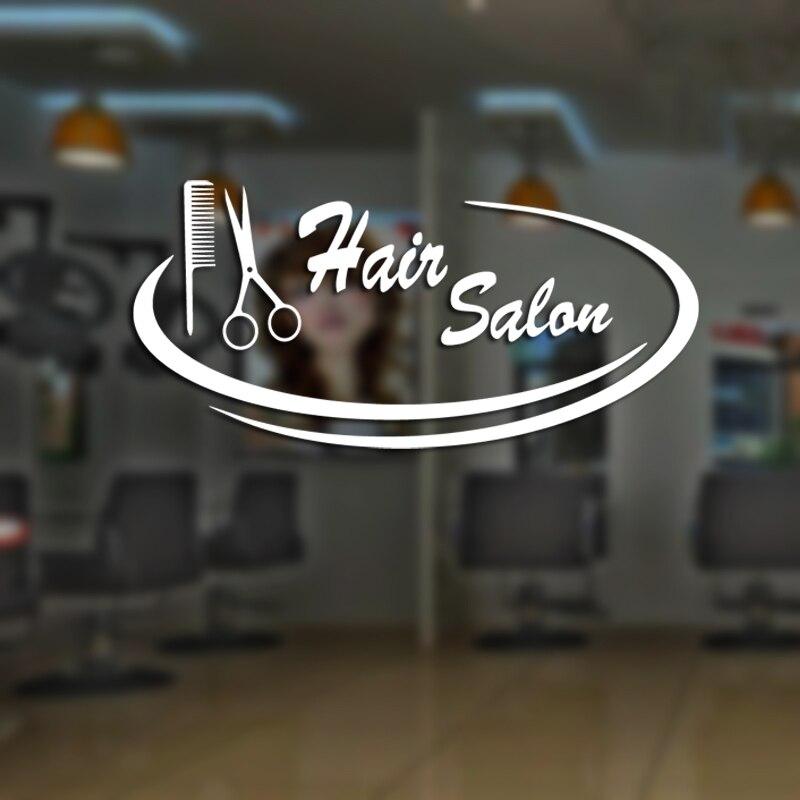 DCTAL Hair Salon Scissors Decal Sticker Neutral Haircut Poster Vinyl Wall Art Decals Decor Windows Decoration