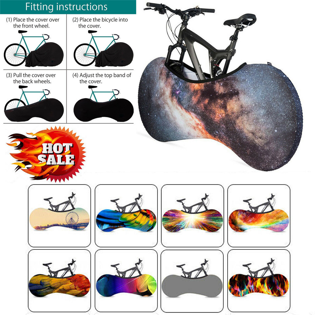 2019 Hot Sale Universal Bicycle Wheel Cover Anti-dust Garage Chains Protect Protective Cover Storage Bag Dropshipping #BY35