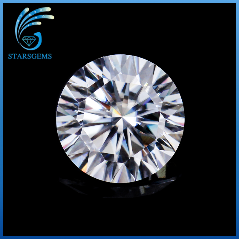 High Quality 2 Carat 8 0mm 16 Hearts 16 Arrows cut F Color Moissanites Loose Stone