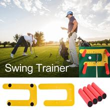 新しい高品質耐久性のあるゴルフスイングトレーナーバッティングポジショニング u 字型定規パッドゴルフ練習補助補正パッド