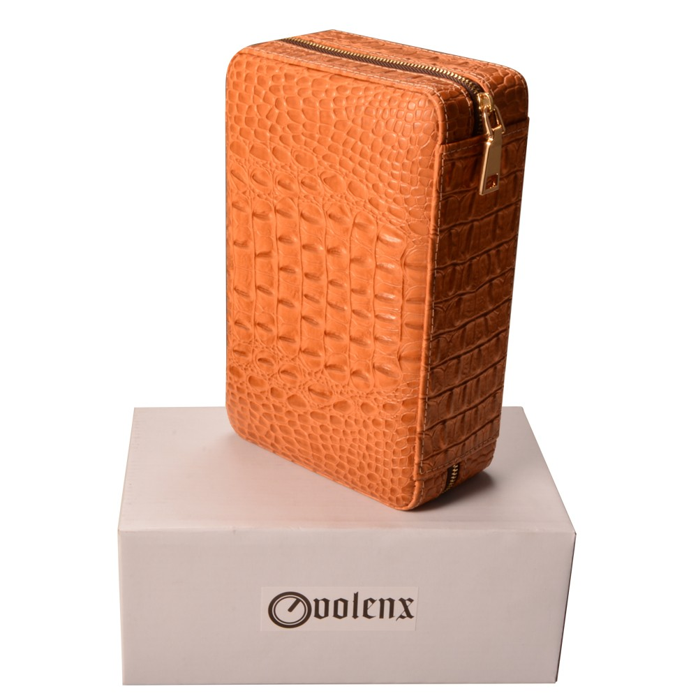 Travel Cigar Humidor Volenx Kulit Kasus Cedar Wood Berjajar Memegang Paket Cerutu Dan Accesoris Item Ini Untuk Aficionado Dari Membawa Enam Menjaga Mereka Aman Jari Dirancang Melindungi Anda Berharga Terbaik Portabel Dalam