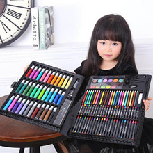 150pcs Children Kids Colored Pencil Painting Marker Pen Crayon Paint Brush Drawing Tool Artist Kit School Supplies Learning Toys