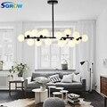 SGROW 16 стеклянных шаров лампы люстры с G4 источник света внутреннее освещение искусство Подвесные светодиодные лампы для спальни металлическ...