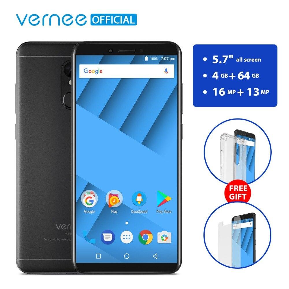 Vernee M6 4GB 64GB Mobile Phone 5.7 HD 18:9 Full Screen 16MP Cameras 4G LTE 3300mAh Android 7.0 Fingerprint Dual SIM Smartphone