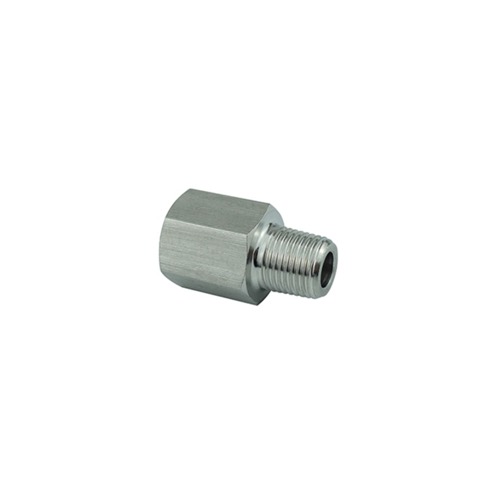 Stainless Steel 304 Barstock Pipe Fitting Adapter BSP Thread Pressure Gauge Adapter Connector 1/8